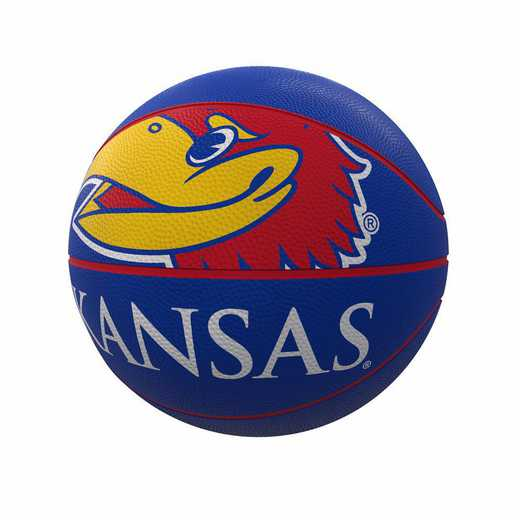 157-91FR-1: Kansas Mascot Official-Size Rubber Basketball