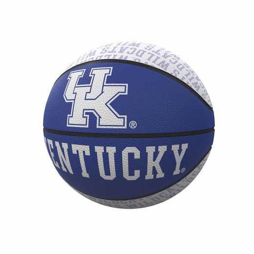 159-91MR-1: Kentucky Repeating Logo Mini-Size Rubber Basketball