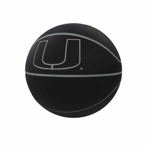 169-91FC-1: Miami Blackout Full-Size Composite Basketball