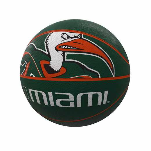 169-91FR-1: Miami Mascot Official-Size Rubber Basketball
