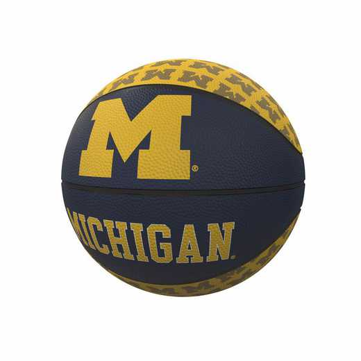 171-91MR-1: Michigan Repeating Logo Mini-Size Rubber Basketball