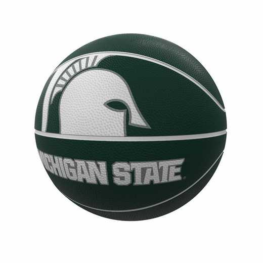172-91FR-1: MI State Mascot Official-Size Rubber Basketball