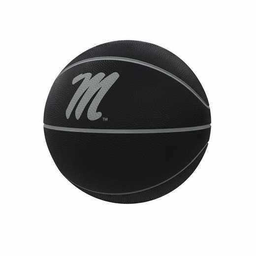 176-91FC-1: Ole Miss Blackout Full-Size Composite Basketball
