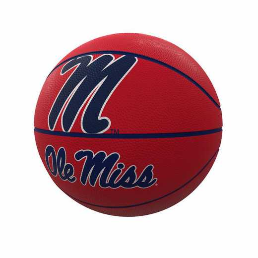 176-91FR-1: Ole Miss Mascot Official-Size Rubber Basketball