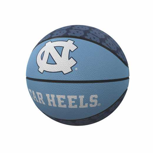 185-91MR-1: North Carolina Repeating Logo Mini-Size Rubber Basketball