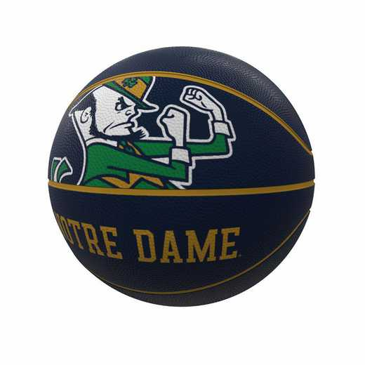 190-91FR-1: Notre Dame Mascot Official-Size Rubber Basketball