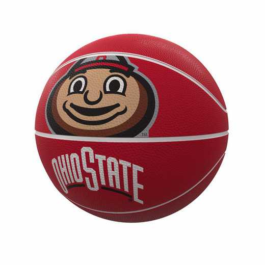 191-91FR-1: Ohio State Mascot Official-Size Rubber Basketball