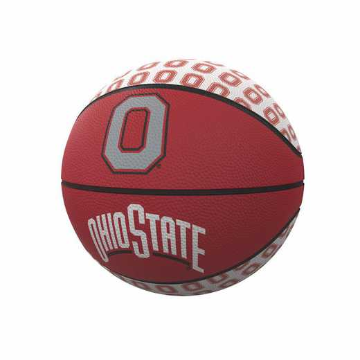 191-91MR-1: Ohio State Repeating Logo Mini-Size Rubber Basketball