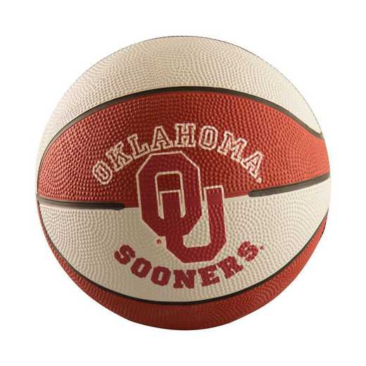 192-91MR-G: Oklahoma Mini-Size Rubber Basketball
