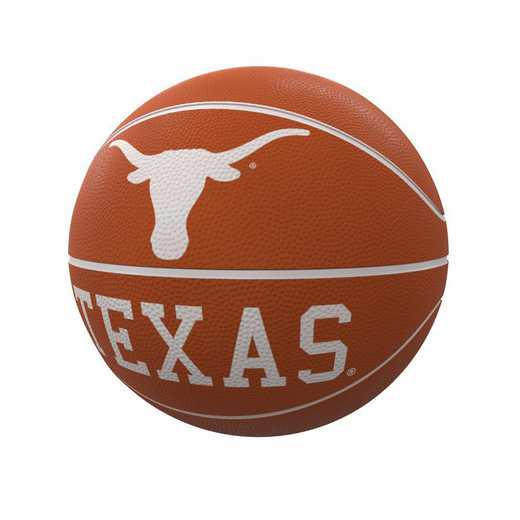 218-91FR-1: Texas Mascot Official-Size Rubber Basketball