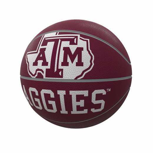 219-91FR-1: TX A&M Mascot Official-Size Rubber Basketball