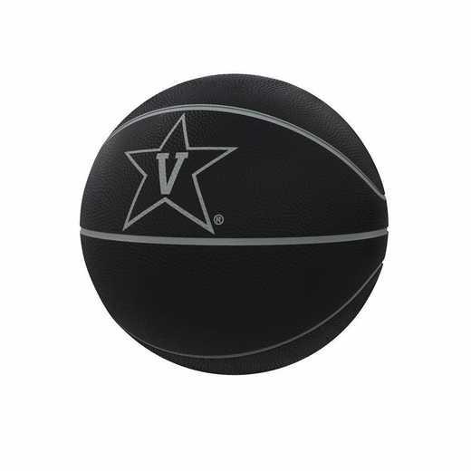 232-91FC-1: Vanderbilt Blackout Full-Size Composite Basketball
