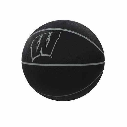 244-91FC-1: Wisconsin Blackout Full-Size Composite Basketball