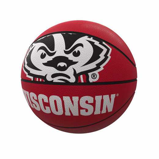244-91FR-1: Wisconsin Mascot Official-Size Rubber Basketball