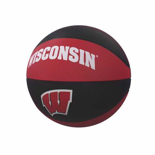 7274070GC: Wisconsin Mini-Size Rubber Debossed Basketball