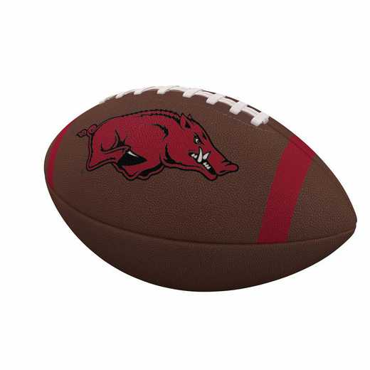 108-93FC-1: Arkansas Team Stripe Official-Size Composite Football