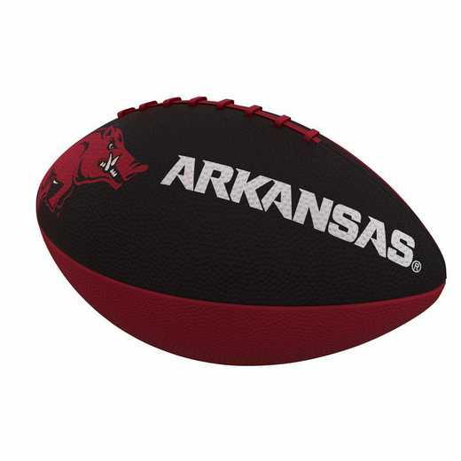 108-93JR-1: Arkansas Combo Logo Junior-Size Rubber Football