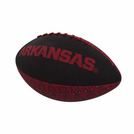 108-93MR-3: Arkansas Repeating Mini-Size Rubber Football