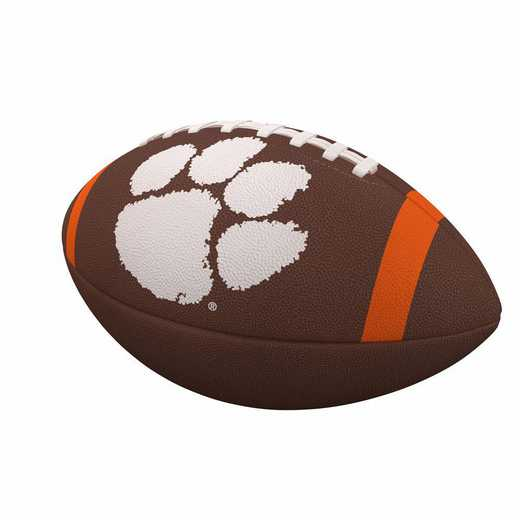 123-93FC-1: Clemson Team Stripe Official-Size Composite Football