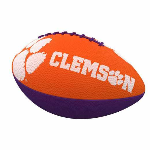 123-93JR-1: Clemson Combo Logo Junior-Size Rubber Football