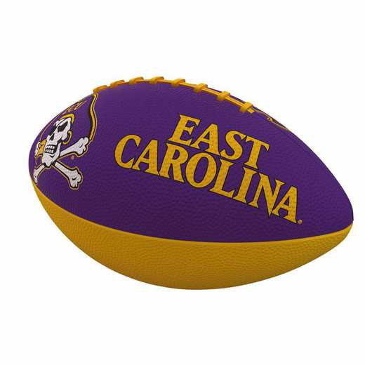 131-93JR-1: East Carolina Combo Logo Junior-Size Rubber Football
