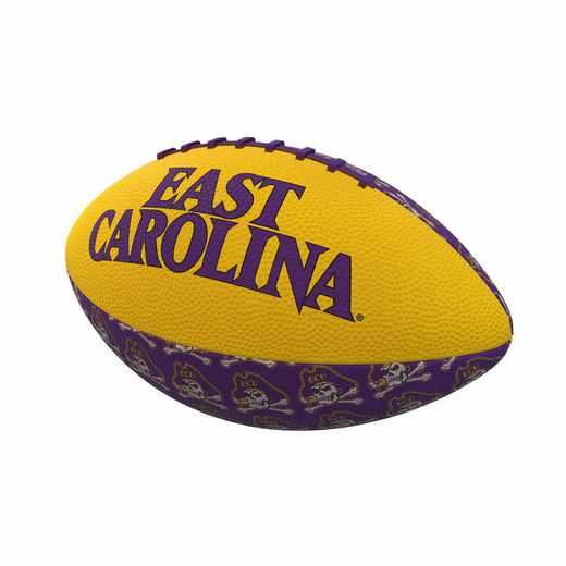 131-93MR-3: East Carolina Repeating Mini-Size Rubber Football