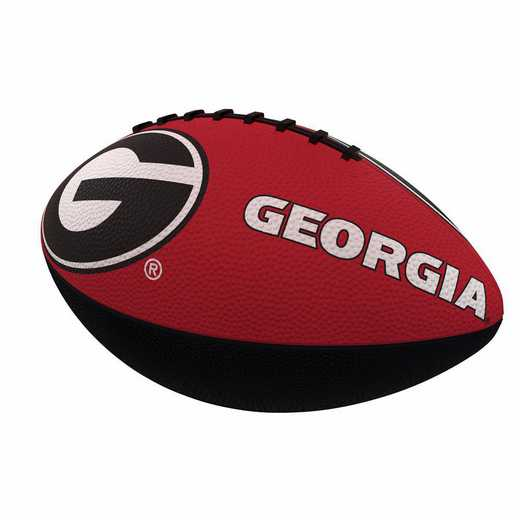 142-93JR-1: Georgia Combo Logo Junior-Size Rubber Football