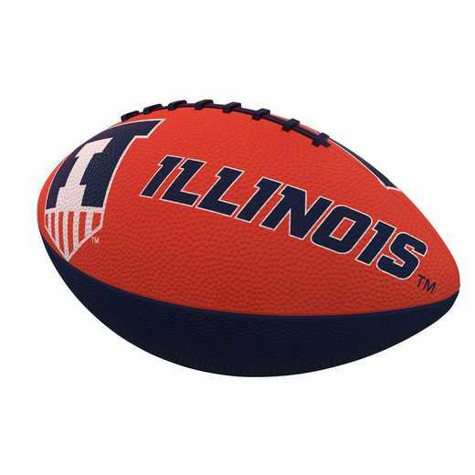 151-93JR-1: Illinois Combo Logo Junior-Size Rubber Football