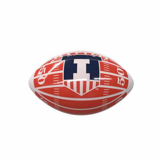 151-93MG-2: Illinois Field Mini-Size Glossy Football