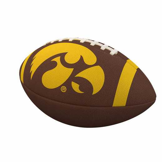 155-93FC-1: Iowa Team Stripe Official-Size Composite Football