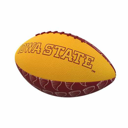 156-93MR-3: IA State Repeating Mini-Size Rubber Football