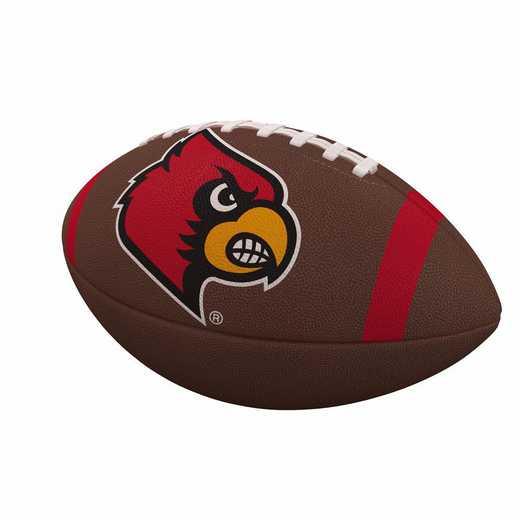 161-93FC-1: Louisville Team Stripe Official-Size Composite Football