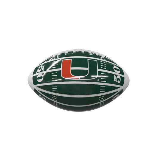 169-93MG-2: Miami Field Mini-Size Glossy Football