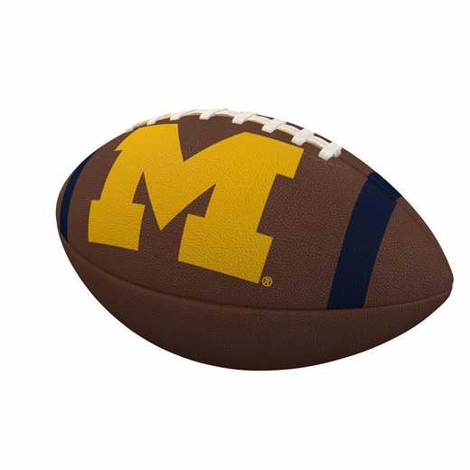 171-93FC-1: Michigan Team Stripe Official-Size Composite Football