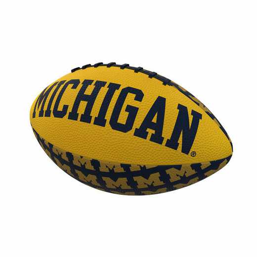 171-93MR-3: Michigan Repeating Mini-Size Rubber Football