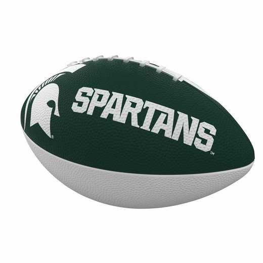 172-93JR-1: MI State Combo Logo Junior-Size Rubber Football