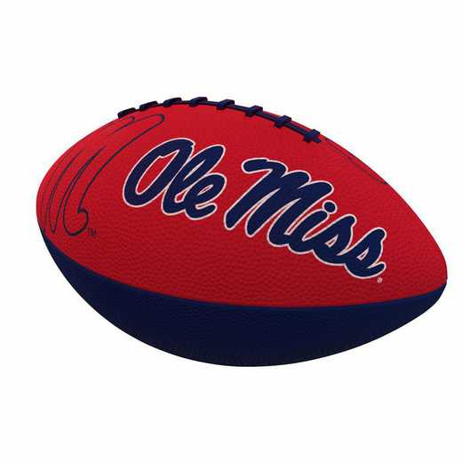 176-93JR-1: Ole Miss Combo Logo Junior-Size Rubber Football