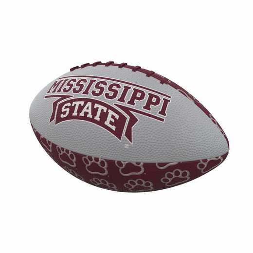 177-93MR-3: Mississippi State Repeating Mini-Size Rubber Football