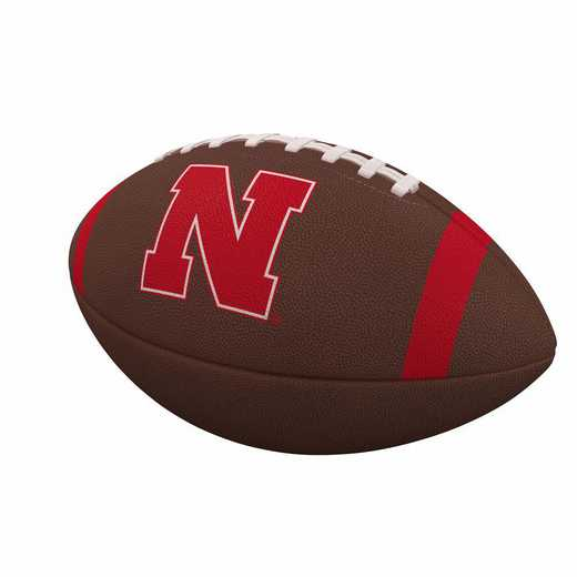182-93FC-1: Nebraska Team Stripe Official-Size Composite Football