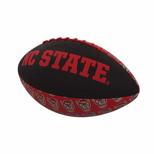186-93MR-3: NC State Repeating Mini-Size Rubber Football