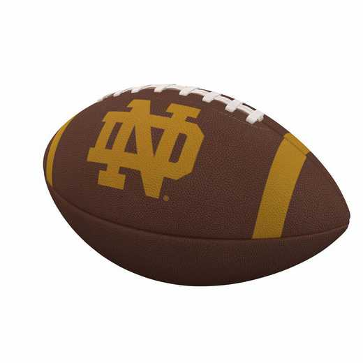 190-93FC-1: Notre Dame Team Stripe Official-Size Composite Football