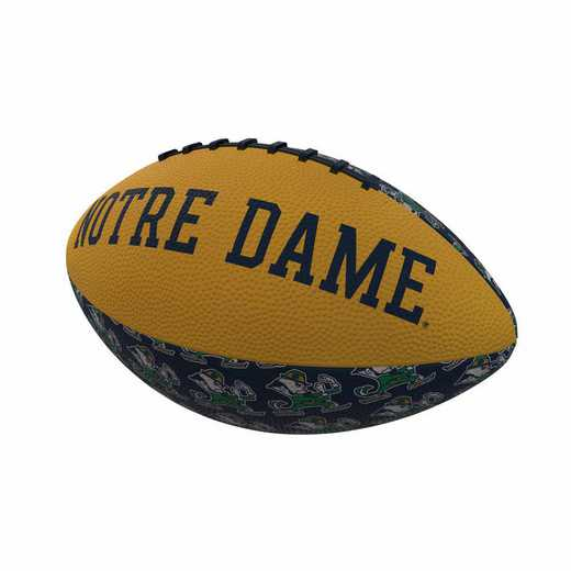 190-93MR-3: Notre Dame Repeating Mini-Size Rubber Football