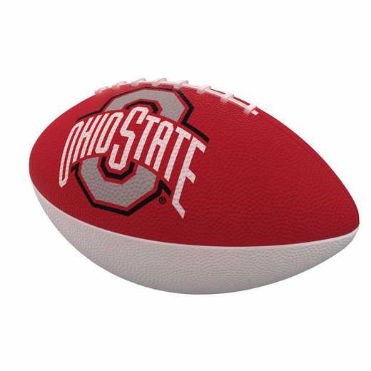 191-93JR-1: Ohio State Combo Logo Junior-Size Rubber Football