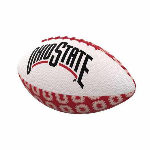 191-93MR-3: Ohio State Repeating Mini-Size Rubber Football