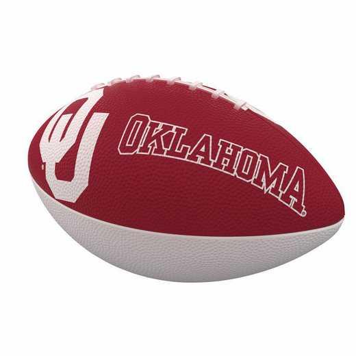 192-93JR-1: Oklahoma Combo Logo Junior-Size Rubber Football