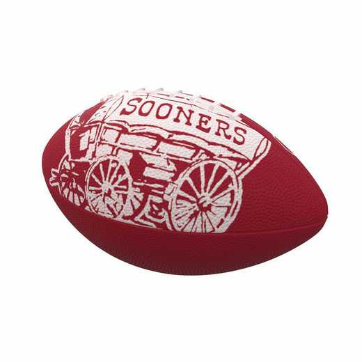 192-93MR-4: Oklahoma Mascot Mini-Size Rubber Football