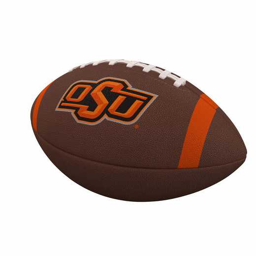 193-93FC-1: OK State Team Stripe Official-Size Composite Football