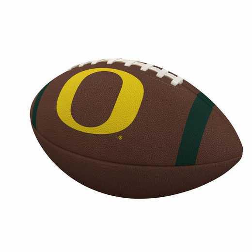 194-93FC-1: Oregon Team Stripe Official-Size Composite Football
