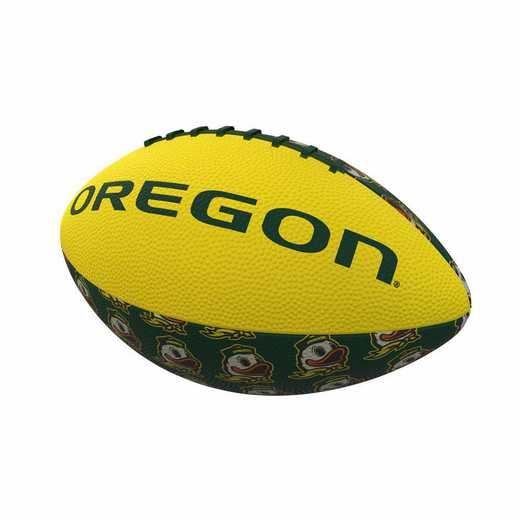 194-93MR-3: Oregon Repeating Mini-Size Rubber Football