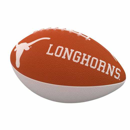 218-93JR-1: Texas Combo Logo Junior-Size Rubber Football